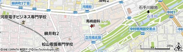 愛媛県松山市河原町周辺の地図