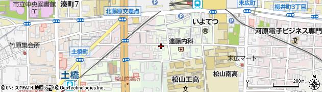 愛媛県松山市永代町周辺の地図