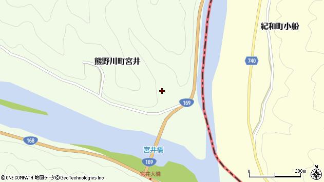 〒647-1235 和歌山県新宮市熊野川町宮井の地図