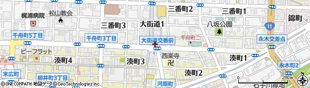 愛媛県松山市大街道1丁目5-1周辺の地図