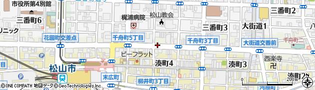 愛媛県松山市千舟町周辺の地図