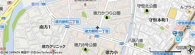 福岡県北九州市小倉南区徳力新町周辺の地図