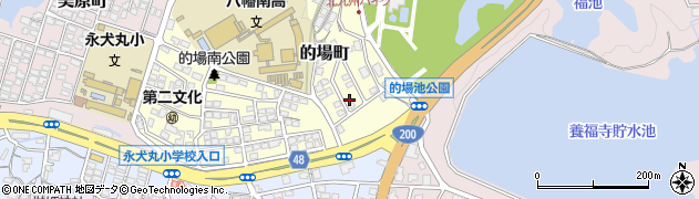 福岡県北九州市八幡西区的場町周辺の地図