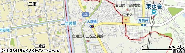 大膳橋周辺の地図