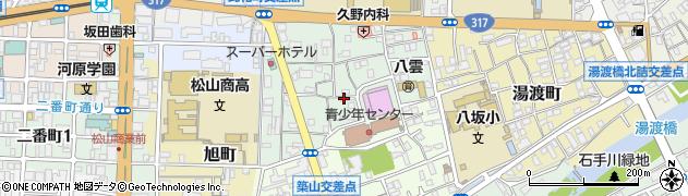 愛媛県松山市此花町周辺の地図