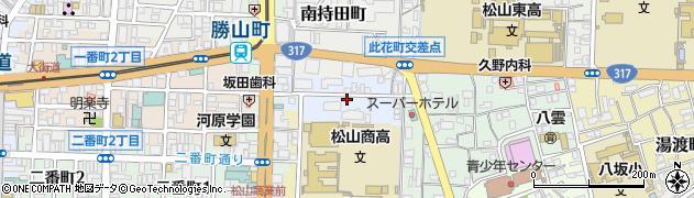 愛媛県松山市御宝町周辺の地図