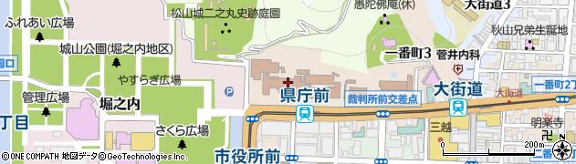 愛媛県周辺の地図