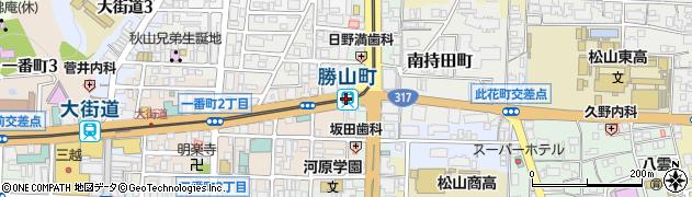 愛媛県松山市周辺の地図