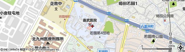 福岡県北九州市小倉南区南若園町周辺の地図