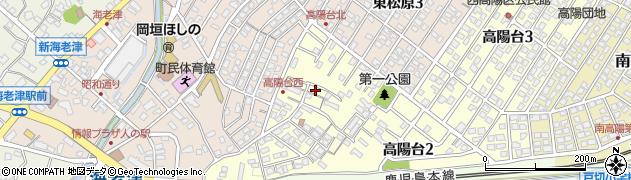 福岡県遠賀郡岡垣町高陽台周辺の地図