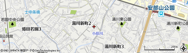 福岡県北九州市小倉南区湯川新町周辺の地図