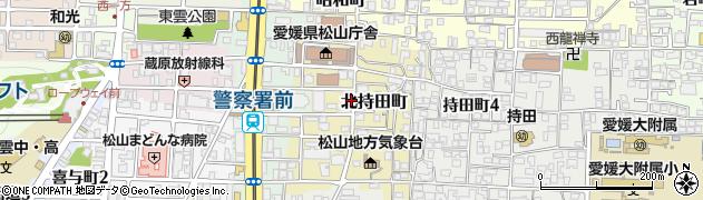 愛媛県松山市北持田町周辺の地図