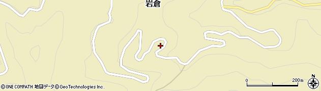 徳島県那賀郡那賀町岩倉イシカ谷周辺の地図