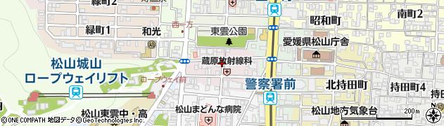 愛媛県松山市東雲町周辺の地図