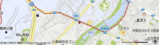 畠田米穀蒲生店周辺の地図