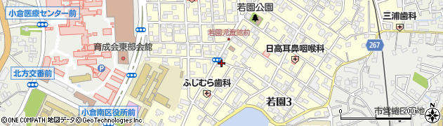 福岡県北九州市小倉南区若園周辺の地図