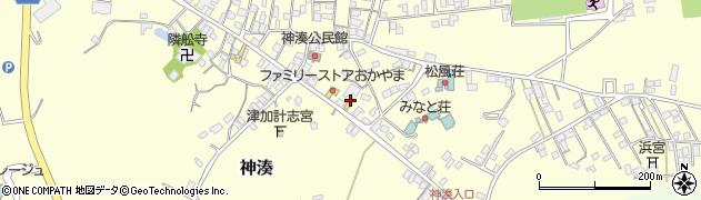 福岡県宗像市神湊本町周辺の地図