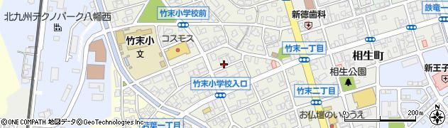 福岡県北九州市八幡西区竹末周辺の地図