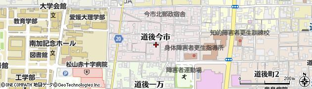 愛媛県松山市道後今市周辺の地図