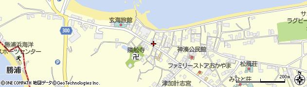福岡県宗像市神湊上中周辺の地図