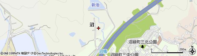 福岡県北九州市小倉南区沼周辺の地図