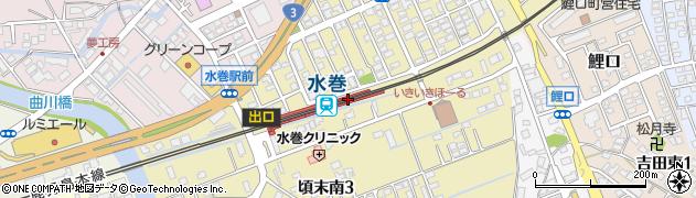 福岡県遠賀郡水巻町周辺の地図