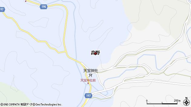 〒645-0207 和歌山県日高郡みなべ町高野の地図