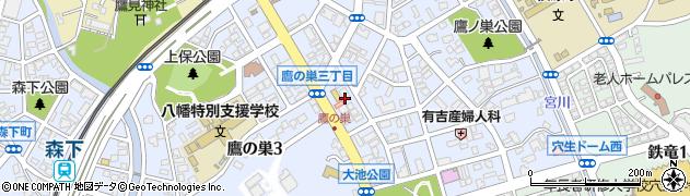 福岡県北九州市八幡西区鷹の巣周辺の地図