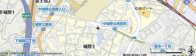 福岡県北九州市小倉南区城野周辺の地図