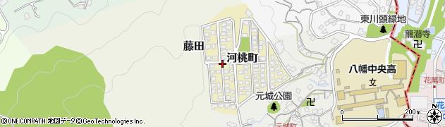 福岡県北九州市八幡西区河桃町周辺の地図