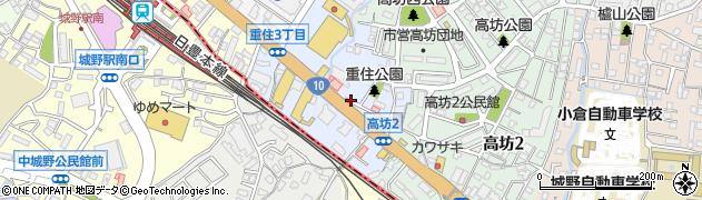 福岡県北九州市小倉北区重住周辺の地図
