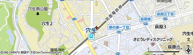 サンクFC穴生駐車場周辺の地図