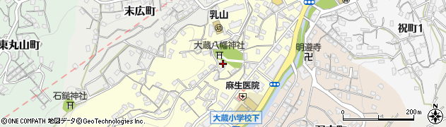 乳山八幡宮周辺の地図