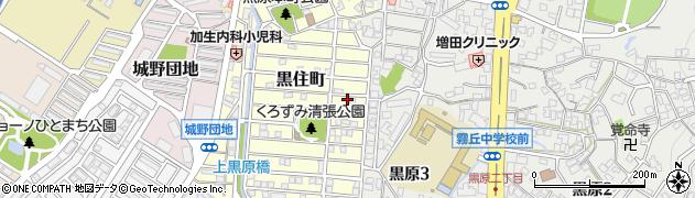 福岡県北九州市小倉北区黒住町周辺の地図