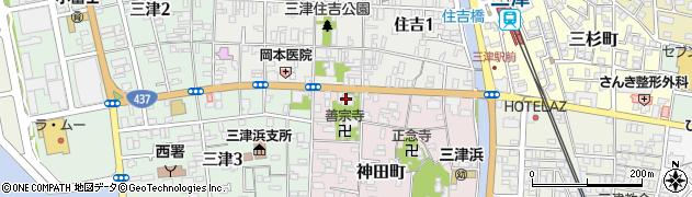 定秀寺周辺の地図