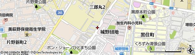 防衛省官舎周辺の地図