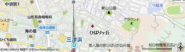 愛媛県松山市ひばりヶ丘周辺の地図
