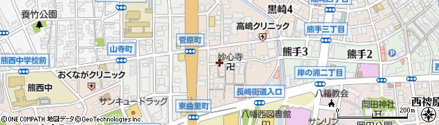 福岡県北九州市八幡西区菅原町周辺の地図