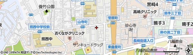 福岡県北九州市八幡西区筒井町周辺の地図