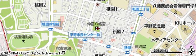 仲宿八幡宮周辺の地図