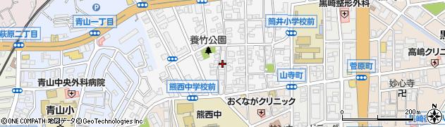 福岡県北九州市八幡西区熊西周辺の地図