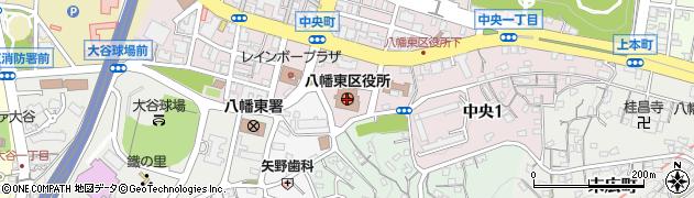 福岡県北九州市八幡東区周辺の地図