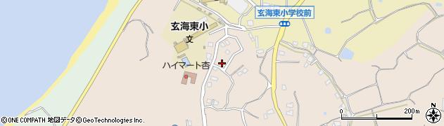 福岡県宗像市田野周辺の地図