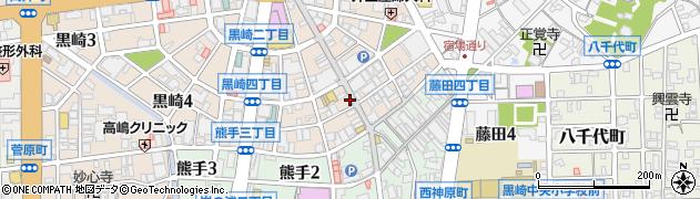 福岡県北九州市八幡西区黒崎周辺の地図