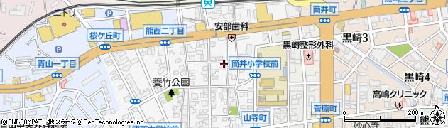 福岡県北九州市八幡西区熊西1丁目周辺の地図