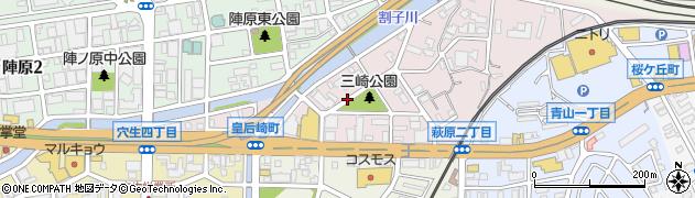 福岡県北九州市八幡西区皇后崎町周辺の地図