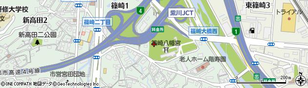 福岡県北九州市小倉北区篠崎周辺の地図