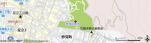 福岡県北九州市小倉北区妙見町周辺の地図