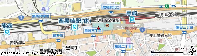 福岡県北九州市八幡西区周辺の地図