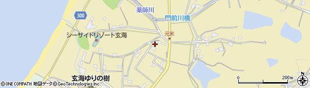福岡県宗像市上八辻元来周辺の地図